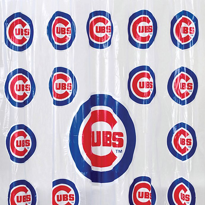 Mlb Chicago Cubs Pvc Frosted Shower Curtain Bed Bath Beyond
