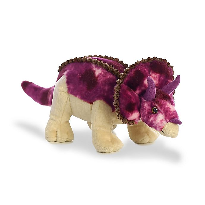 Alternate image 1 for Aurora World® Triceratops Plush Toy in Purple