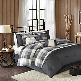 Madison Park Ridge Herringbone Comforter Collection