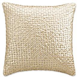 KAS Amara Knit Throw Pillow in Gold