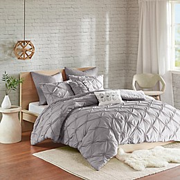Urban Habitat Talia 7-Piece Elastic Embroidered Chambray Comforter Set