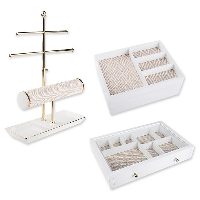Alternate image 1 for West Emory Jewelry Storage Collection in White