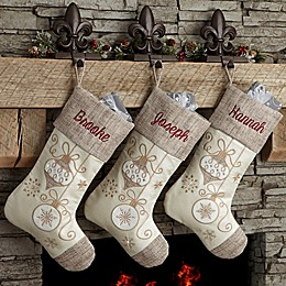 Elegant Charm Christmas Stocking