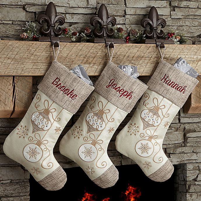 Alternate image 1 for Elegant Charm Christmas Stocking