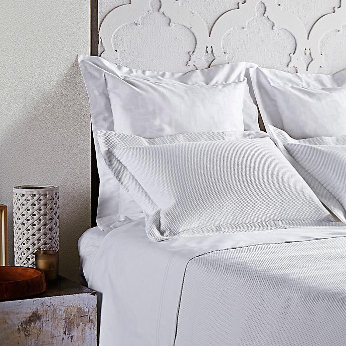 Alternate image 1 for Frette At Home Creta Standard Pillow Sham in White