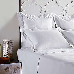Frette At Home Creta Standard Pillow Sham in White