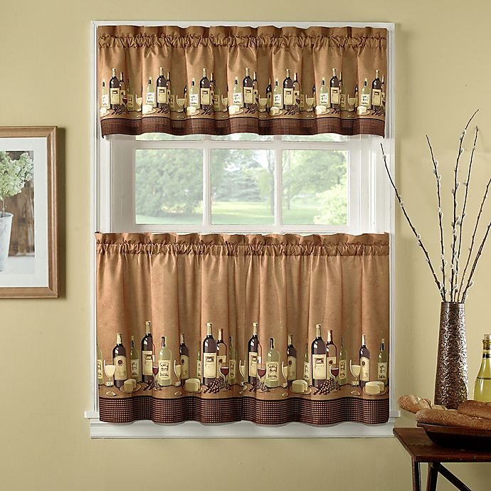 Buy Wines 24-Inch Kitchen Window Curtain Tiers And Valance