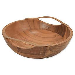 Artisanal Kitchen Supply® Acacia Wood and Metal Fruit Bowl