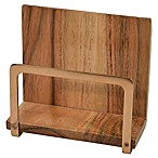 Artisanal Kitchen Supply® Acacia Wood and Metal Napkin Holder