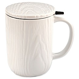 CasaWare® Tilt & Drip 18 oz. Woodgrain Tea Infuser Mug
