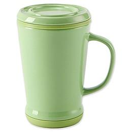 CasaWare® Tilt & Drip 14 oz. Tea Infuser Mug in Green