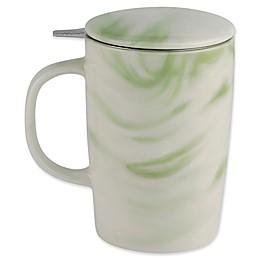 CasaWare® Tilt & Drip 16 oz. Marble Tea Infuser Mug in Forest