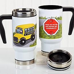 Bus Driver Character 14 oz. Commuter Travel Mug
