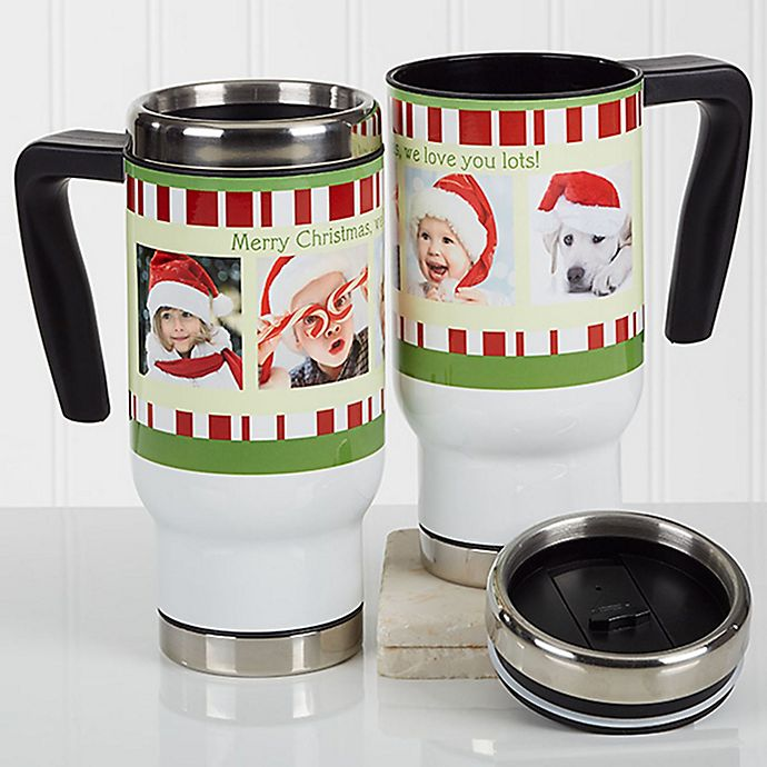 Alternate image 1 for Christmas Photo Message 14 oz. Commuter Travel Mug