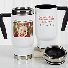 Christmas Photo Wishes 14 oz. Commuter Travel Mug