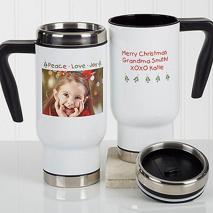 Alternate image 1 for Christmas Photo Wishes 14 oz. Commuter Travel Mug