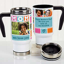 MOM Photo Collage 14 oz. Commuter Travel Mug
