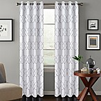 Colordrift Mandy 84-Inch Grommet Top Room-Darkening Window Curtain Panel in White