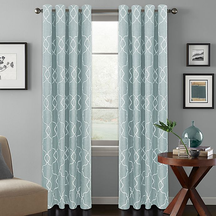 Alternate image 1 for Colordrift Mandy 84-Inch Grommet Top Room-Darkening Window Curtain Panel in Spa