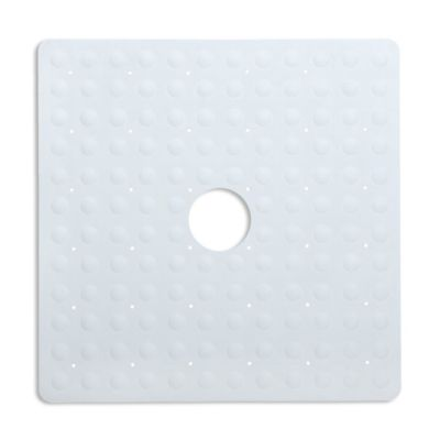 Slip X Solutions Square Safety Shower Mat In White by Bed Bath And Beyond