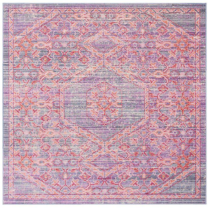 Alternate image 1 for Safavieh Windsor Samara 6-Foot Square Area Rug in Lavender