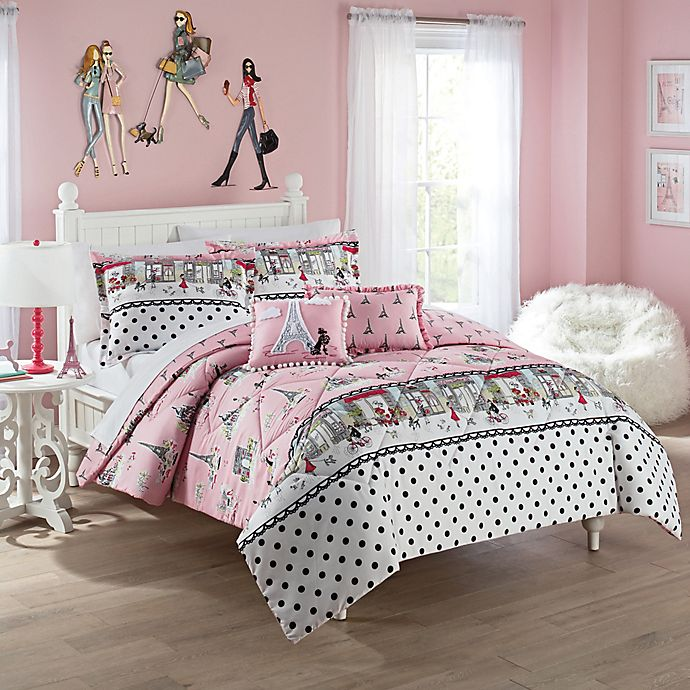 Alternate image 1 for Waverly Kids Ooh La La Reversible Comforter Set