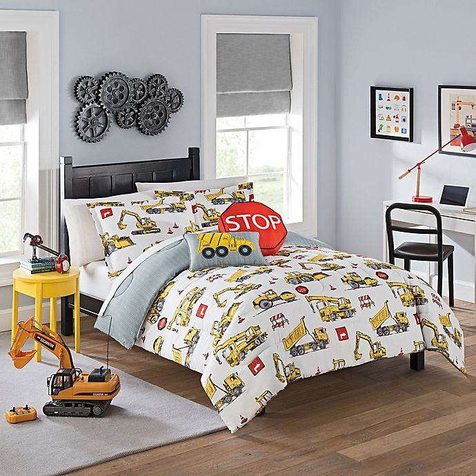 Alternate image 1 for Waverly Kids Under Construction 2-Piece Twin Comforter Set