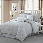 Studio 17 Napoli Reversible Queen Comforter Set in Taupe/White