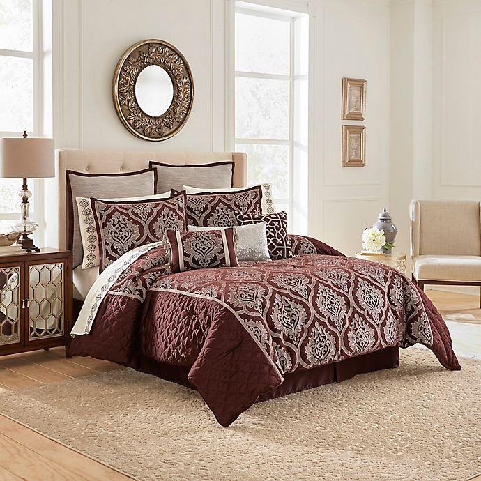 Alternate image 1 for Vue Ma Maison Edinburgh 13-Piece Queen Comforter Set in Plum