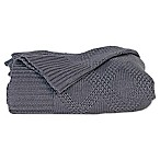 Cariloha® Viscose Made From Bamboo/Blend Knit Throw Blanket in Blue Lagoon