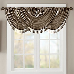 Madison Park Elena Faux Silk Waterfall Window Valance