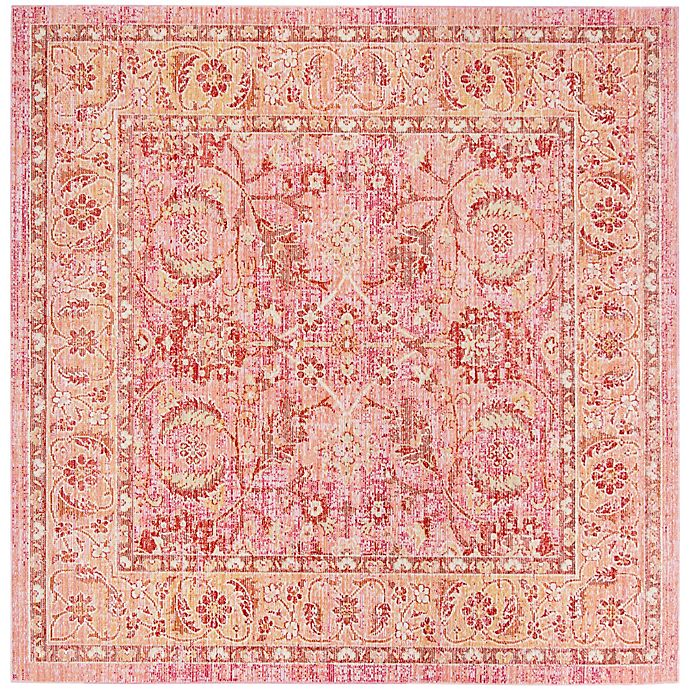 Alternate image 1 for Safavieh Windsor Victoria 6-Foot Square Area Rug in Pink