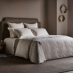 Frette At Home Levanto Reversible Queen Duvet Cover in Ivory/Stone