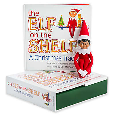 """The Elf on the Shelf: A Christmas Tradition"" 2-Piece Book and Plush Light Skin Boy Scout Set"