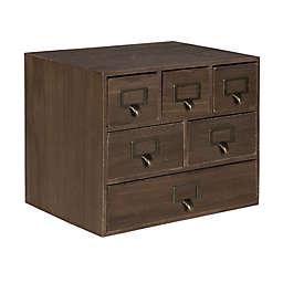 Kate and Laurel™ Desktop 6-Drawer Wood Apothecary Set