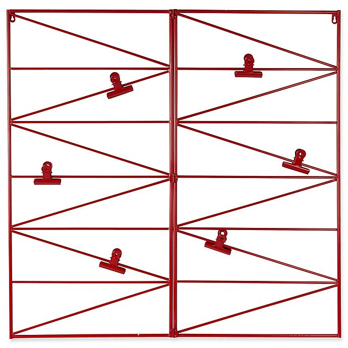 Alternate image 1 for Kate and Laurel Whitt Metal Wire Wall Organizer with Clips