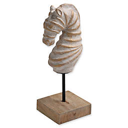 Ren-Wil Seahorse Statue with Distressed Gold Finish