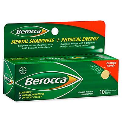Berocca 10-Count Effervescent Tablets in Orange