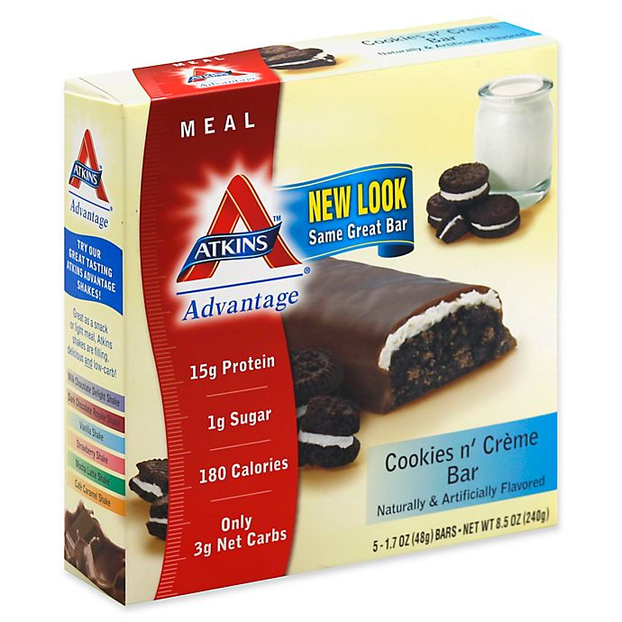 Alternate image 1 for Atkins® Advantage 5-Pack in Cookies and Cream Bar