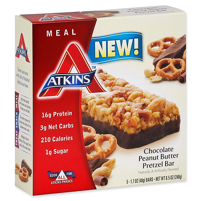 Alternate image 1 for Atkins® Advantage 5-Pack Chocolate Peanut Butter Pretzel Bar