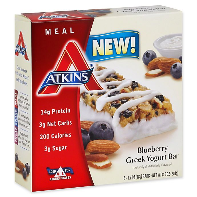 Alternate image 1 for Atkins® 5-Pack Greek Yogurt Bar in Blueberry