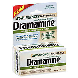 Dramamine® 18-Count Non-Drowsy Naturals with Natural Ginger Capsules