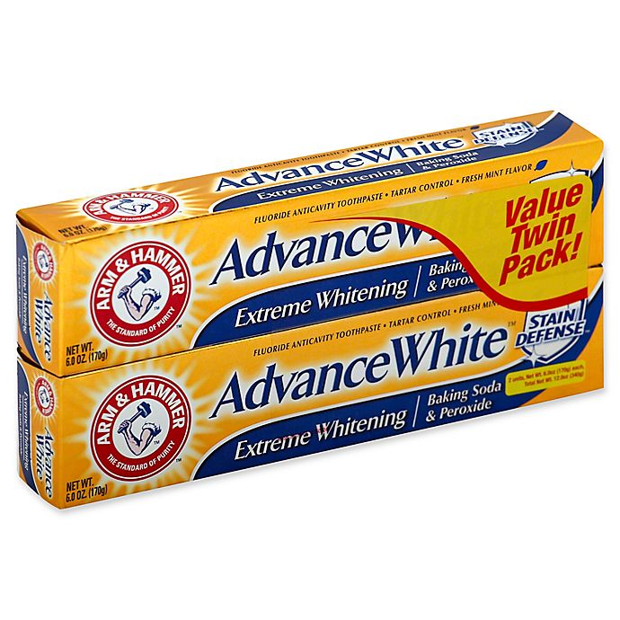 Alternate image 1 for Arm & Hammer® Advance White® Twin Pack Extreme Whitening Stain Defense in Fresh Mint