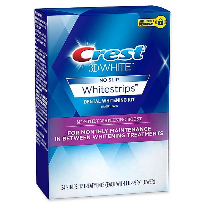 Alternate image 1 for Crest® 3D White™ No Slip Whitestrips™ 12-Count Whitening Boost Dental Whitening Kit