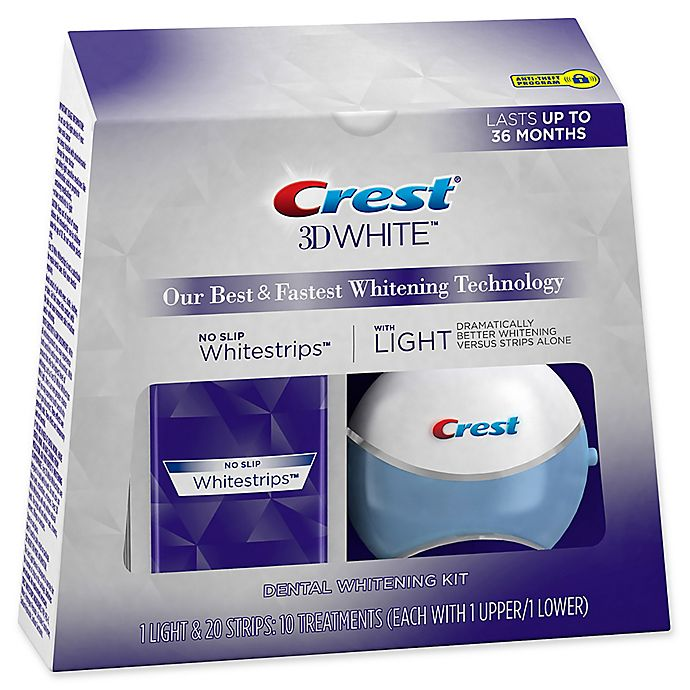 Alternate image 1 for Crest® 3D White™ 10-Count No Slip Whitestrips™ with Light
