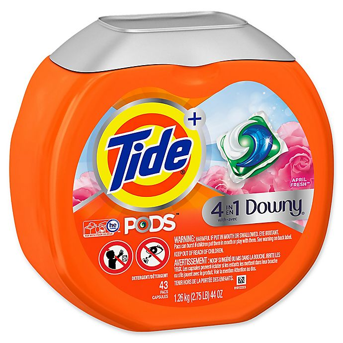 Alternate image 1 for Tide® + 4-in-1 Downy® 43-Count April Fresh™ Laundry Detergent PODS™