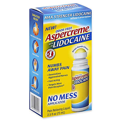 Aspercreme® 2.5 fl. oz. Odor Free Max Strength Pain Relieving Liquid with 4% Lidocaine