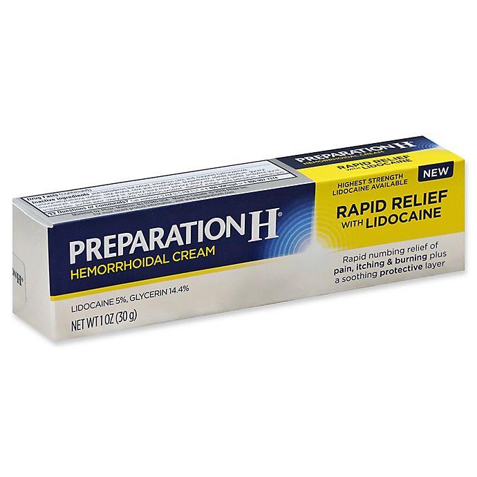 Alternate image 1 for Preparation H® 1 oz. Rapid Relief Hemorrhoidal Cream with Lidocaine