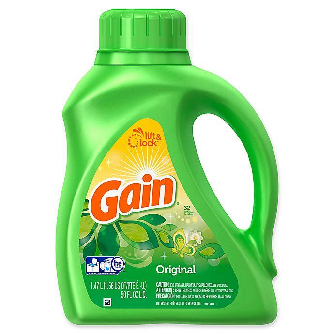 Alternate image 1 for Gain® 50 fl. oz. Liquid Laundry Detergent in Original
