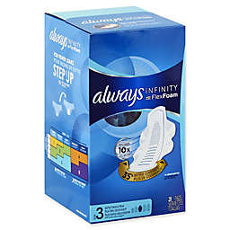 Always Infinity 28-Count Size 3 Extra Heavy Flow FlexiFoam Pads with Flexi-Wings